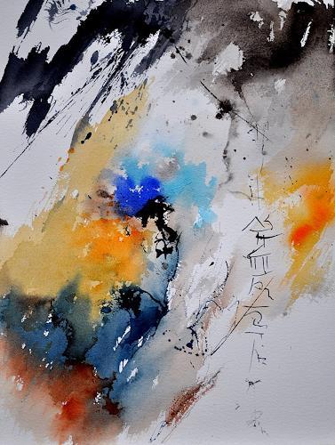 pol ledent, watercolor abstract 2160, Abstraktes, Gegenwartskunst