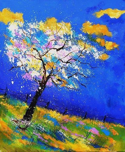pol ledent, Spring 563140, Landschaft: Frühling, Gegenwartskunst
