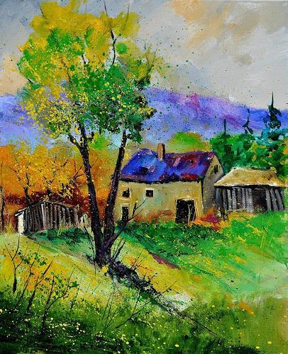 pol ledent, summer landscape 563160, Landschaft: Sommer, Gegenwartskunst