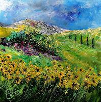 pol-ledent-1-Landschaft-Sommer-Natur-Diverse-Moderne-Impressionismus