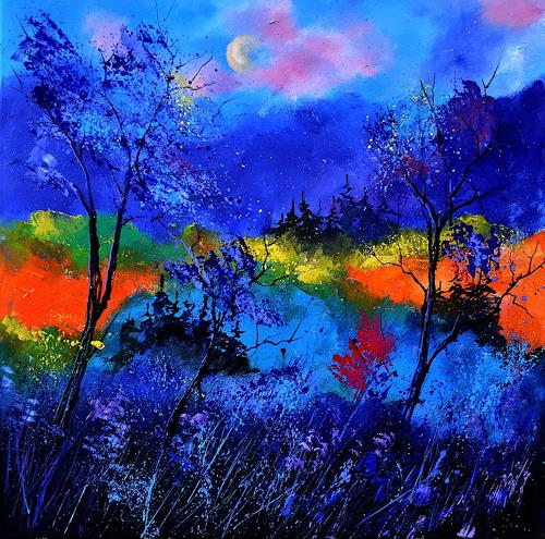 pol ledent, waiting for the fary queen to come, Landschaft: Sommer, Poesie, NS-Kunst, Expressionismus