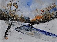 pol-ledent-1-Landschaft-Winter-Natur-Wald-Neuzeit-Biedermeier