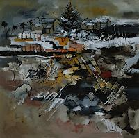 pol-ledent-1-Landschaft-Winter-Moderne-Abstrakte-Kunst