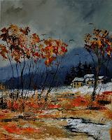 pol-ledent-1-Natur-Wald-Landschaft-Herbst-Moderne-Impressionismus-Neo-Impressionismus