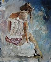 pol-ledent-1-Akt-Erotik-Akt-Frau-Diverse-Romantik-Moderne-Impressionismus-Neo-Impressionismus