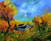 pol ledent, Village in Fall