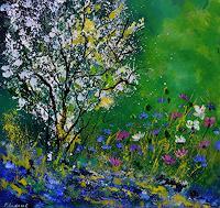 p. ledent, My garden in spring