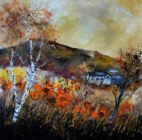 pol ledent, Autumn 8881, Landschaft: Herbst, Fauvismus, Expressionismus