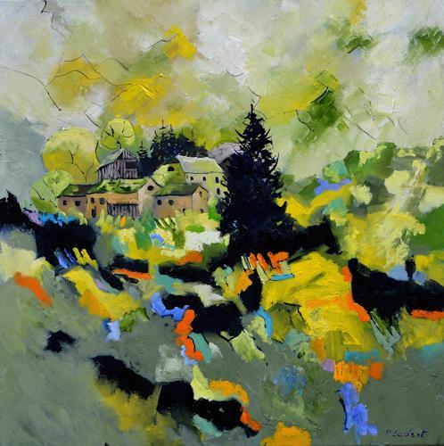 pol ledent, Ardennes 8881, Landschaft, Landschaft: Frühling, Abstrakte Kunst