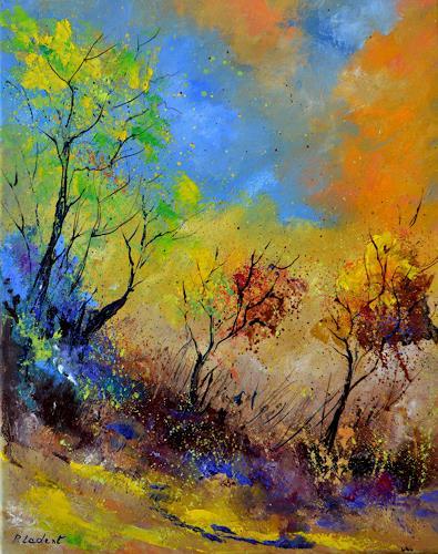 pol ledent, In autumn, Landschaft, Landschaft: Herbst, Gegenwartskunst