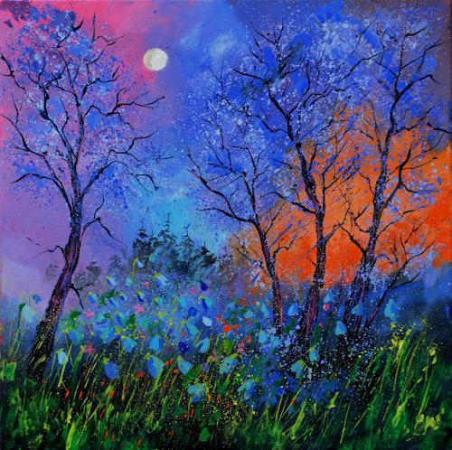 pol ledent, Magic wood 8881, Landschaft, Fantasie, Abstrakte Kunst