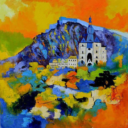 pol ledent, abstract urban landscape, Landschaft, Architektur, Abstrakte Kunst, Abstrakter Expressionismus