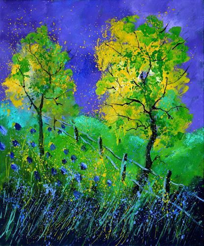 pol ledent, Summer 566111, Landschaft, Landschaft: Sommer, Postimpressionismus