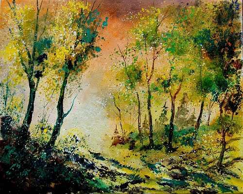 pol ledent, spring 450208, Landschaft: Frühling, Natur: Wald, Romantik, Expressionismus
