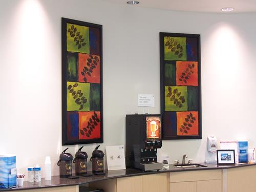 Paul Timshel, Coffee Bar I & II, Freizeit, Pflanzen: Bäume, Abstrakter Expressionismus