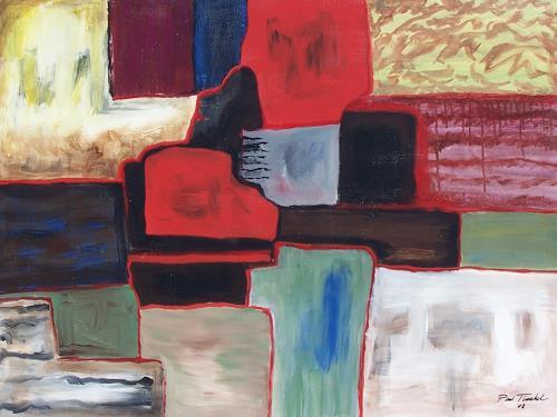 Paul Timshel, Coloful Squares, Abstraktes, Freizeit, Gegenwartskunst