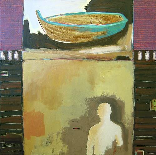 Maria Gust, Gebt mir ein Boot, ich will essen, Diverse Menschen, Abstraktes, Gegenwartskunst, Expressionismus