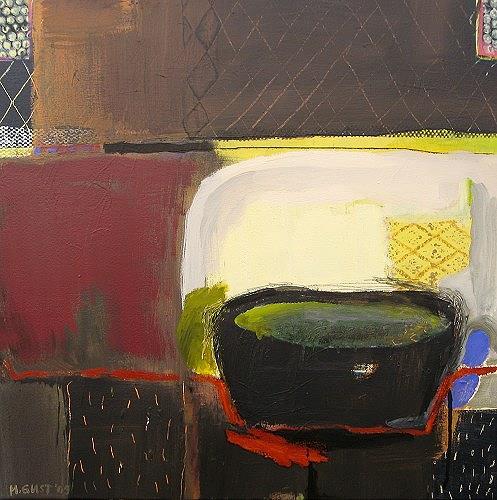 Maria Gust, warm halten, Abstraktes, Stilleben, Gegenwartskunst, Expressionismus