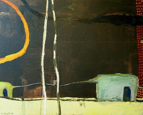 Maria Gust, In Verbindung, Gefühle: Geborgenheit, Abstraktes, Gegenwartskunst, Abstrakter Expressionismus