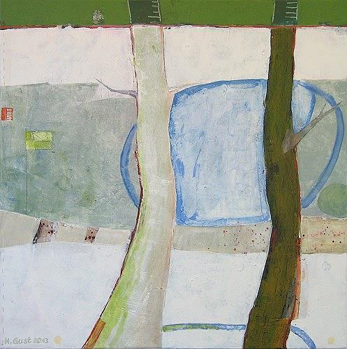 Maria Gust, nebeneinander, Abstraktes, Natur: Erde, Gegenwartskunst