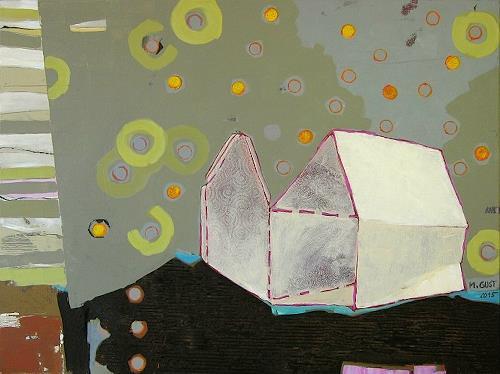 Maria Gust, falten und kleben, Abstraktes, Wohnen, Gegenwartskunst, Abstrakter Expressionismus