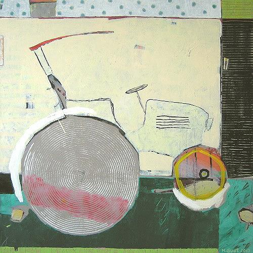 Maria Gust, fährt noch, Abstraktes, Natur: Diverse, Gegenwartskunst, Expressionismus
