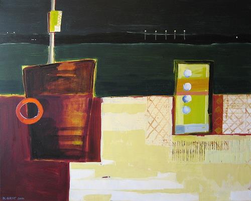 Maria Gust, Lichter 2, Abstraktes, Landschaft, Gegenwartskunst, Abstrakter Expressionismus