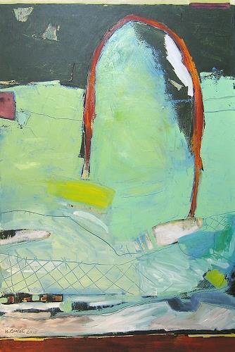Maria Gust, vielleicht auch fische, Abstraktes, Landschaft, Gegenwartskunst, Abstrakter Expressionismus