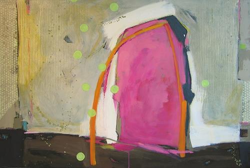 Maria Gust, kommen und gehen, Abstraktes, Symbol, Gegenwartskunst, Expressionismus