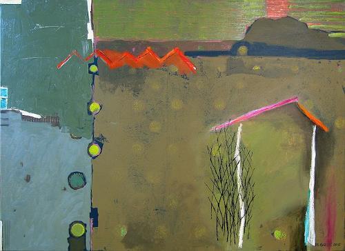 Maria Gust, zentrumsnah, Landschaft, Abstraktes, Gegenwartskunst, Abstrakter Expressionismus