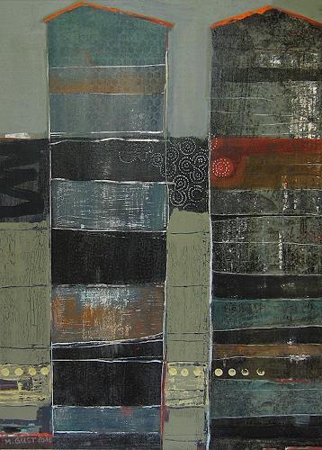 Maria Gust, einszudreikommafünf, Abstraktes, Architektur, Abstrakte Kunst, Expressionismus