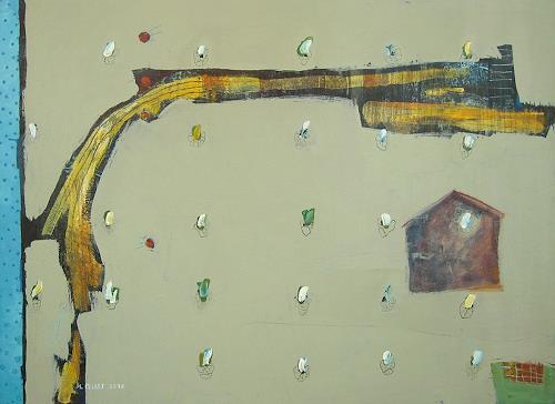 Maria Gust, und ein Stück Land, Landschaft, Abstraktes, Gegenwartskunst