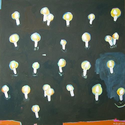 Maria Gust, Kerzenfeld (wofür, wogegen?), Gefühle: Angst, Gefühle: Freude, Gegenwartskunst