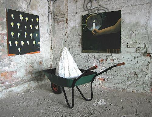 Maria Gust, Echt Arbeit!, Diverse Menschen, Gesellschaft, Gegenwartskunst, Abstrakter Expressionismus