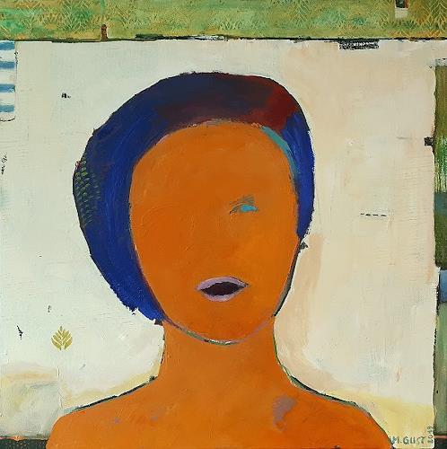 Maria Gust, Einäugige, Diverse Menschen, Abstraktes, Gegenwartskunst, Abstrakter Expressionismus