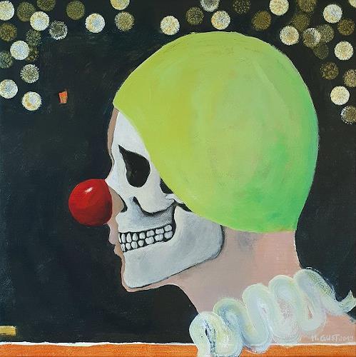 Maria Gust, obwohl, Diverse Menschen, Symbol, Gegenwartskunst, Abstrakter Expressionismus