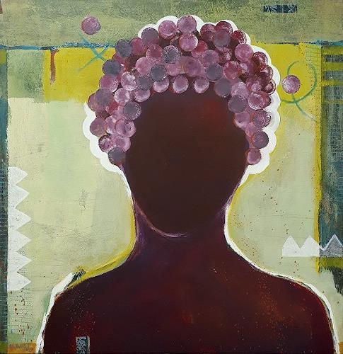 Maria Gust, Weinkönigin, Menschen: Frau, Menschen: Porträt, Gegenwartskunst, Abstrakter Expressionismus