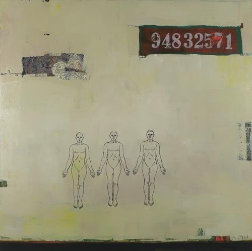 Maria Gust, zählen, Diverse Menschen, Abstraktes, Abstrakte Kunst, Abstrakter Expressionismus