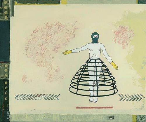 Maria Gust, d 150 cm, Diverse Menschen, Fashion, Gegenwartskunst, Abstrakter Expressionismus