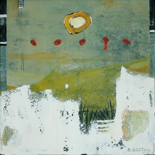 Maria Gust, Wo wenn nicht hier?, Abstraktes, Landschaft, Abstrakte Kunst, Expressionismus