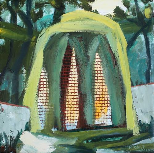 Maria Gust, Einladung, Abstraktes, Landschaft, Gegenwartskunst, Expressionismus