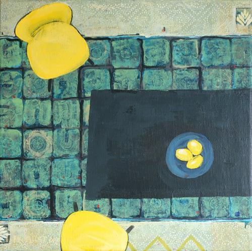Maria Gust, yellow - missing Italy, Wohnen: Zimmer, Gegenwartskunst