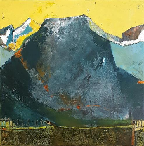 Maria Gust, Hanglage, Landschaft: Berge, Abstraktes, Gegenwartskunst, Expressionismus