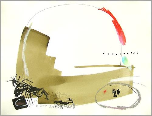 Maria Gust, o.T.5-24.April2009, Abstraktes, Bewegung, Gegenwartskunst, Expressionismus