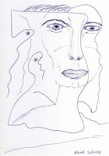 AndReaS KoVaR, Surreal 19005, Menschen: Gesichter, Abstraktes, Neuzeit
