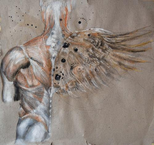 steffi huber, flüglein, Menschen: Mann, Menschen: Mann, Abstrakter Expressionismus