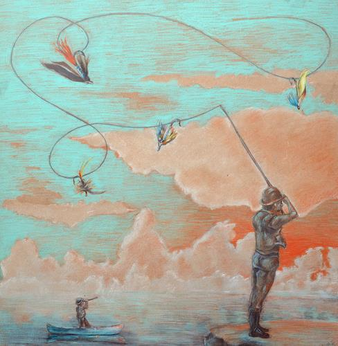 steffi huber, Fliegenfischer, Bewegung, Menschen: Mann