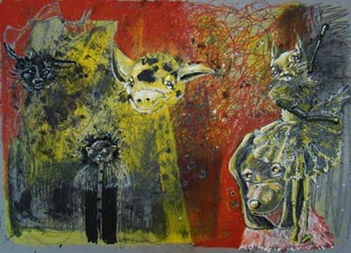 steffi huber, Giraffe, Poesie, Diverse Gefühle, Expressionismus
