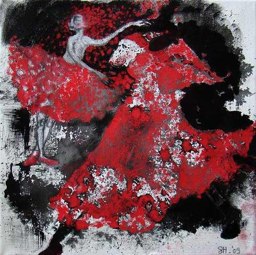 steffi huber, Roter Schnee, Bewegung, Fantasie, Expressionismus