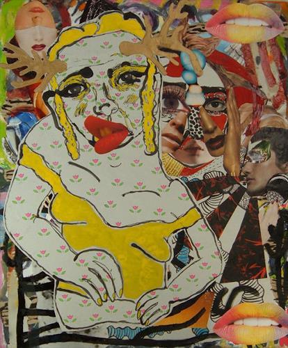 Claudio Parentela, PAINTING884, Fantasie, Barock, Abstrakter Expressionismus